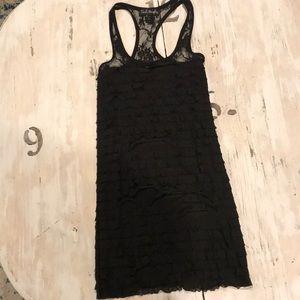 Dresses & Skirts - Black ruffled lace dress